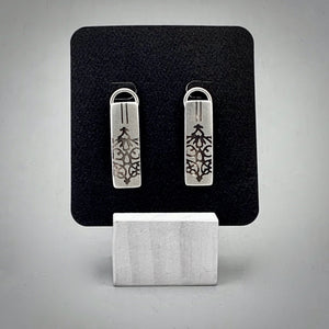 Fierce Rectangle Dangle Sterling Silver Earrings