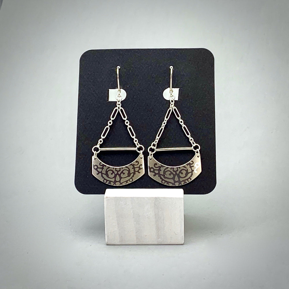 Fierce Chandelier Sterling Silver Earrings