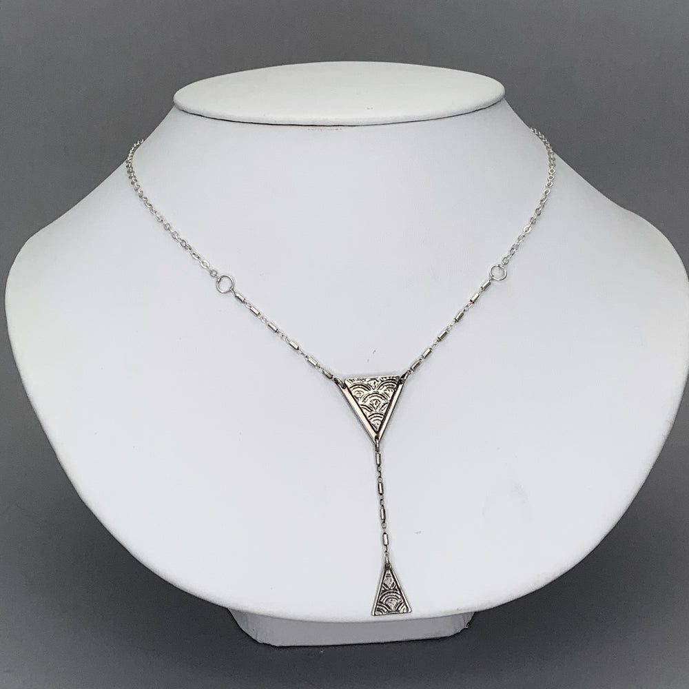 Martini Sterling Silver Lariat Necklace