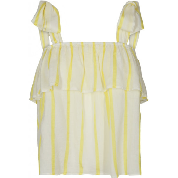 Lulus drawer lounge Ida top Tops & tees Off white/Lemon stripe