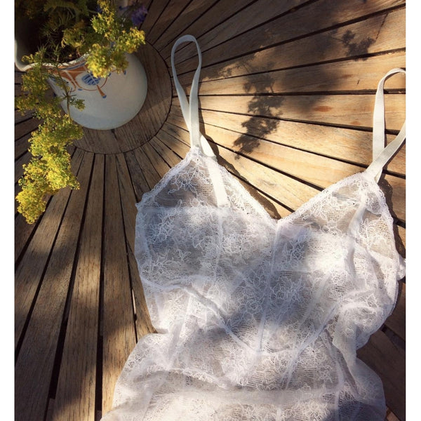lulu's drawer Lily body Bodysuit White