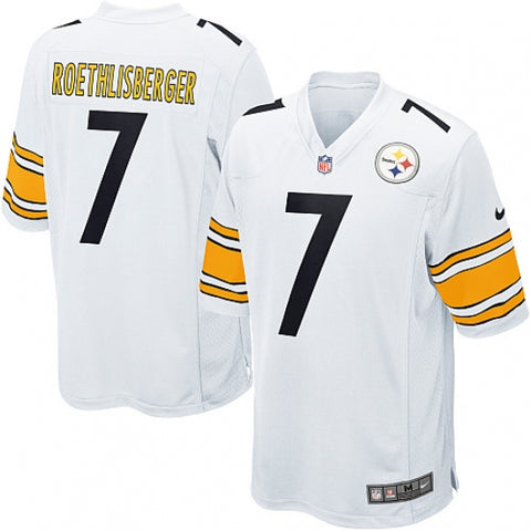 Nike Men's Pittsburgh Steelers Ben Roethlisberger Game Jersey White