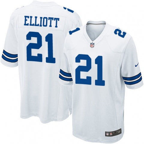 Men's Dallas Cowboys Ezekiel Elliott Game Jersey White - Fan Gear Nation