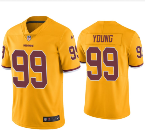 Men's Chase Young Washington Football Team Gold Game Jersey - Fan Gear Nation