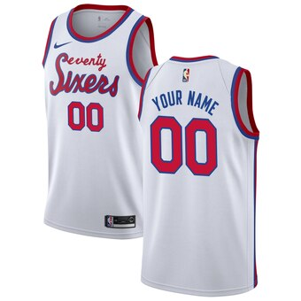 Nike Men's Custom Philadelphia 76ers Swingman Jersey White - Fan Gear Nation