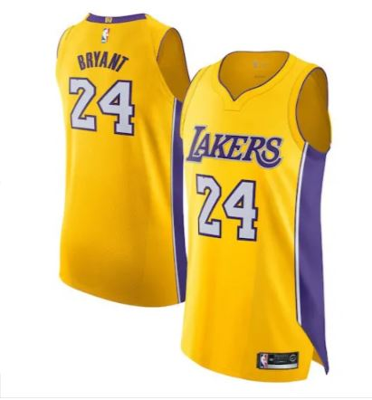 Men's Los Angeles Lakers Kobe Bryant #24 Classic Jersey Gold - Fan Gear Nation