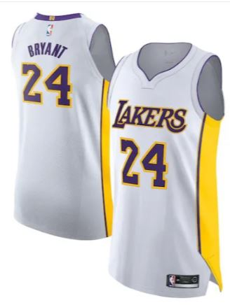 Men's Los Angeles Lakers Kobe Bryant #24 Classic Jersey White - Fan Gear Nation