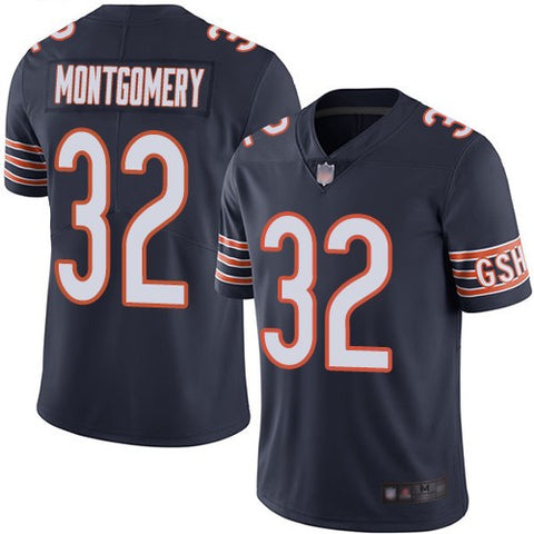 Womens Chicago Bears David Montgomery Game Vapor Jersey Navy - Fan Gear Nation