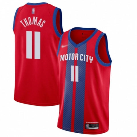 Nike Men's Detroit Pistons Isiah Thomas Red Basketball Jersey City Edition - Fan Gear Nation