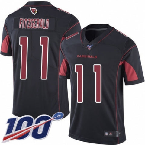 Men's Arizona Cardinals Larry Fitzgerald Black Vapor Rush Untouchable Limited Player 100th Season Jersey - Fan Gear Nation