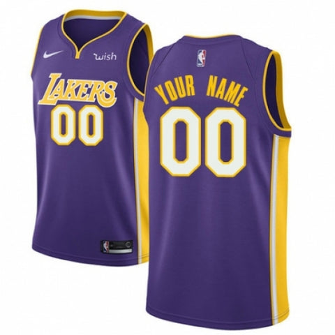 Men's Los Angeles Lakers Customized Purple Basketball Jersey - Icon Edition