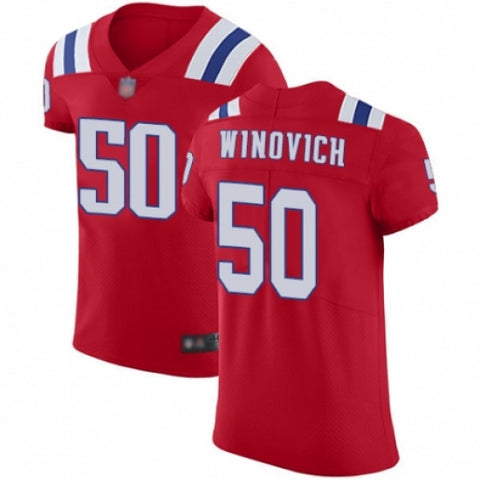 Men's New England Patriots Chase Winovich Red Untouchable Jersey
