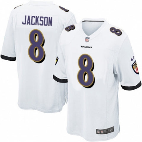 Men's Nike Baltimore Ravens #8 Lamar Jackson Game White NFL Jersey - Fan Gear Nation