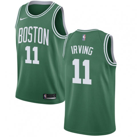 Nike Men's Boston Celtics Kyrie Irving Icon Edition Road Jersey Green(White No.) - Fan Gear Nation