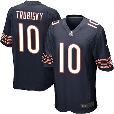 Nike Men's Chicago Bears Mitchell Trubisky Game Jersey Navy Blue - Fan Gear Nation