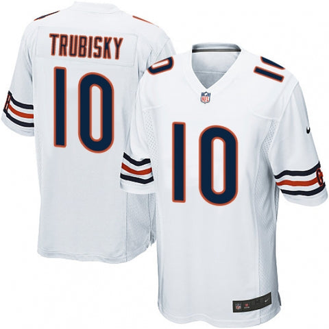 Nike Men's Chicago Bears Mitchell Trubisky Game Jersey White - Fan Gear Nation