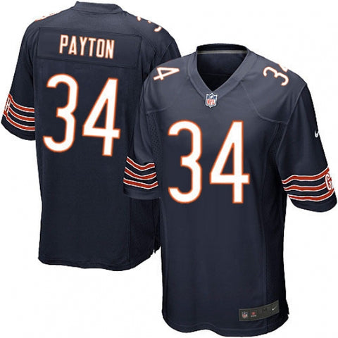 Nike Men's Chicago Bears Walter Payton Game Jersey Navy Blue