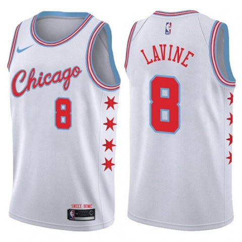 Nike Men's Chicago Bulls Zach LaVine Swingman City Edition Jersey White - Fan Gear Nation