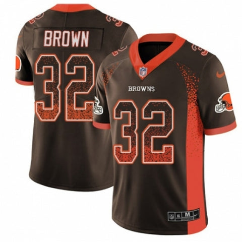 Men's Nike Cleveland Browns Jim Brown Limited Rush Jersey Brown - Fan Gear Nation
