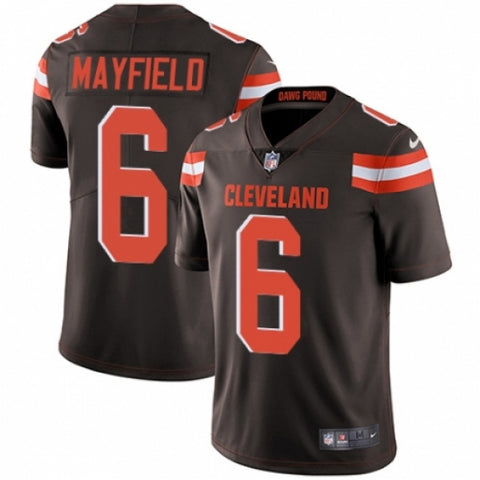 Men's Cleveland Browns Baker Mayfield Limited Player Jersey Brown - Fan Gear Nation
