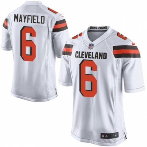 Men's Cleveland Browns Baker Mayfield Game Jersey White - Fan Gear Nation