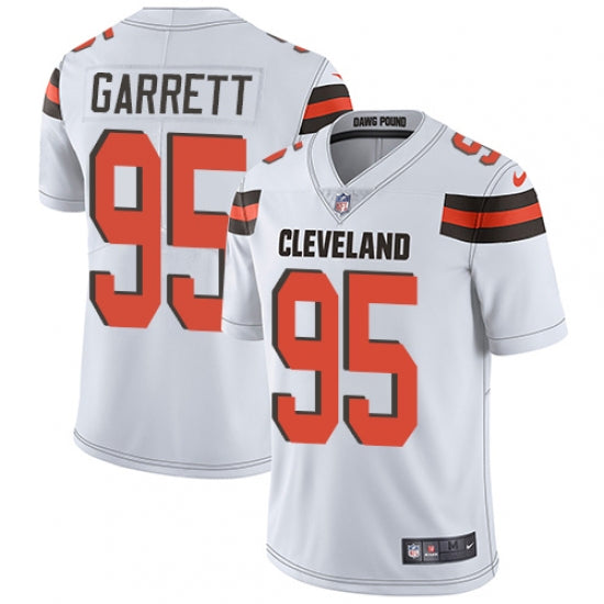 the best attitude d84a9 7cac1 Nike Men's Cleveland Browns Myles Garrett Limited Player Jersey White