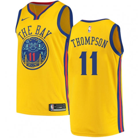 Nike Men's Golden State Warriors Klay Thompson City Edition Jersey Gold - Fan Gear Nation