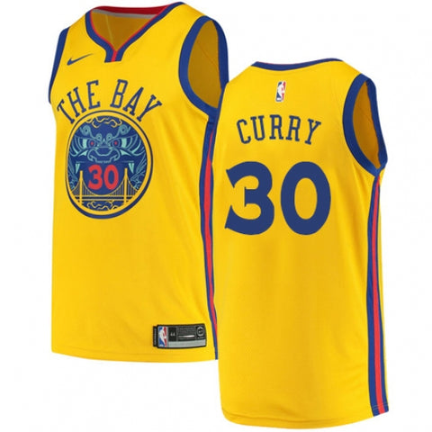 Nike Men's Golden State Warriors Stephen Curry City Edition Jersey Gold