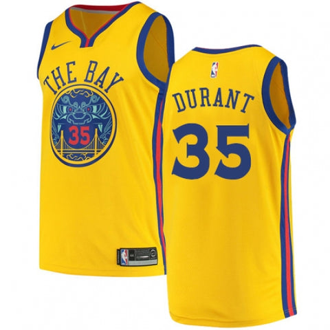 Men's Golden State Warriors Kevin Durant City Edition Jersey Gold - Fan Gear Nation