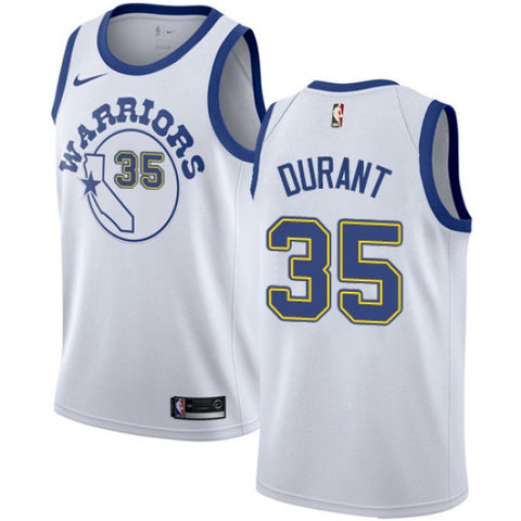 Men's Golden State Warriors Kevin Durant Jersey Hardwood Classics White - Fan Gear Nation