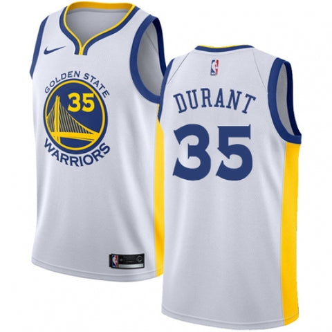 Men's Golden State Warriors Kevin Durant Jersey Association Edition White - Fan Gear Nation