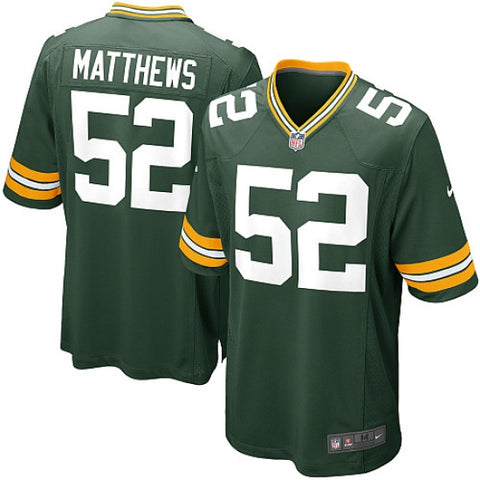 Men's Green Bay Packers Clay Matthews Game Jersey Green - Fan Gear Nation