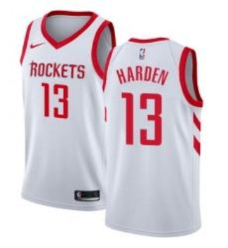 Nike Men's Houston Rockets James Harden Jersey Association Edition White