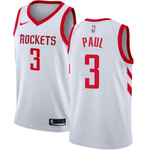 Men's Houston Rockets Chris Paul Jersey Association Edition White - Fan Gear Nation