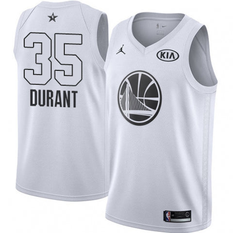 Men's Nike Jordan Golden State Warriors Kevin Durant All-Star Game White Jersey - Fan Gear Nation