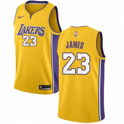 Men's Los Angeles Lakers LeBron James Swingman Jersey Icon Edition Gold - Fan Gear Nation