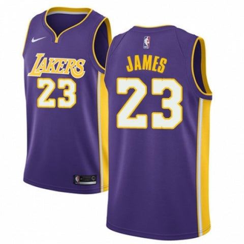 Men's Los Angeles Lakers LeBron James Jersey Statement Edition Purple - Fan Gear Nation