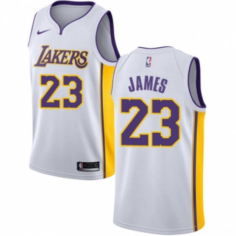 Nike Men's Los Angeles Lakers LeBron James Jersey Association Edition White