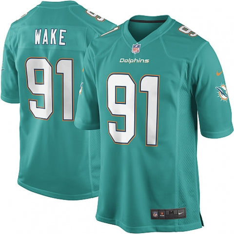Nike Men's Miami Dolphins Cameron Wake Game Jersey Aqua Green - Fan Gear Nation