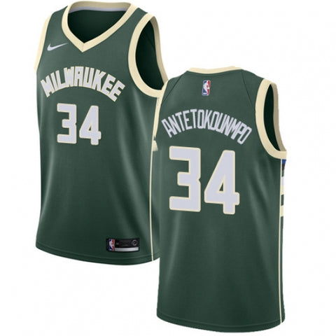 Nike Men's Milwaukee Bucks Giannis Antetokounmpo Jersey Icon Edition Green - Fan Gear Nation
