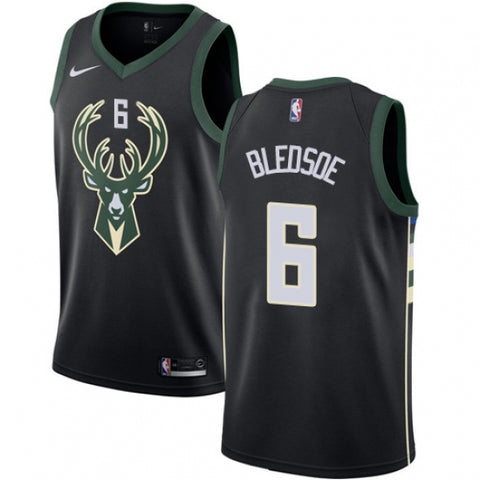 Nike Men's Milwaukee Bucks Eric Bledsoe Alternate Jersey Statement Edition Black - Fan Gear Nation