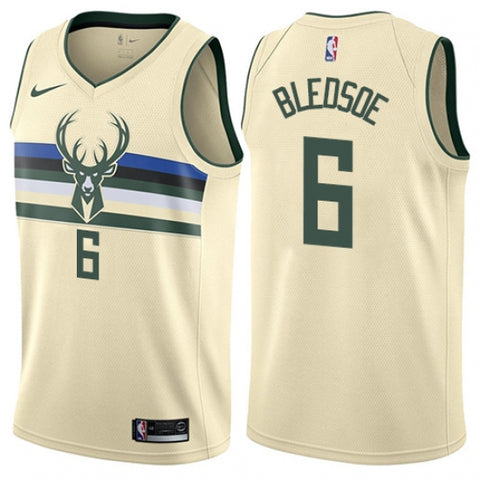 Nike Men's Milwaukee Bucks Eric Bledsoe Swingman City Edition Jersey Cream - Fan Gear Nation