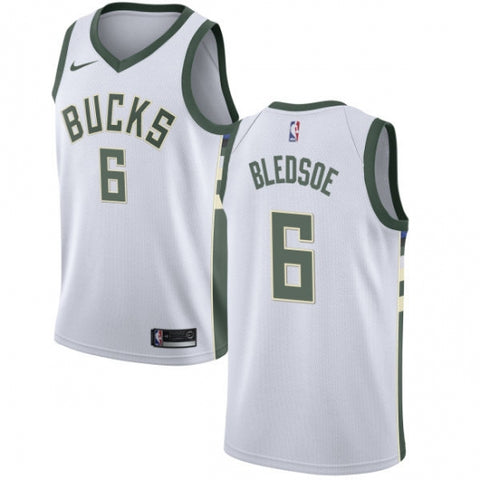 Men's Milwaukee Bucks Eric Bledsoe Swingman Jersey Association White - Fan Gear Nation
