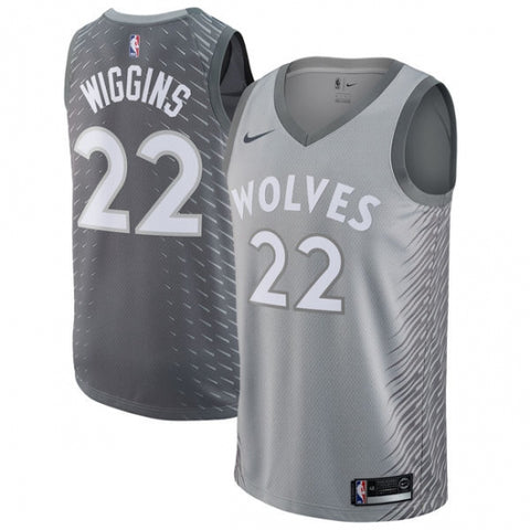 Nike Men's Minnesota Timberwolves Andrew Wiggins City Edition Jersey Gray