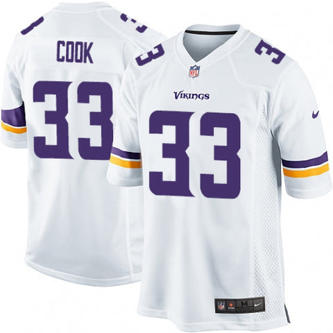 Nike Men's Minnesota Vikings Dalvin Cook Game Jersey White