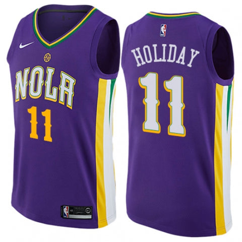 Nike Men's Minnesota Timberwolves Jrue Holiday City Edition Jersey Purple - Fan Gear Nation