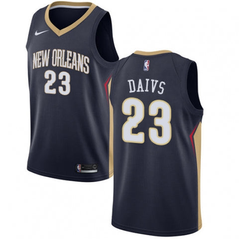 Nike Men's New Orleans Pelicans Anthony Davis Jersey Icon Edition Navy Blue - Fan Gear Nation