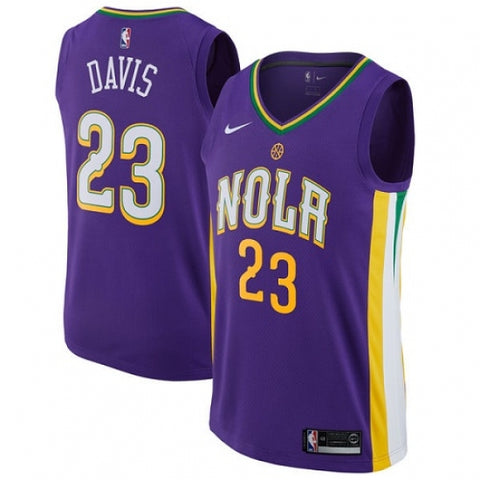 Nike Men's New Orleans Pelicans Anthony Davis City Edition Jersey Purple