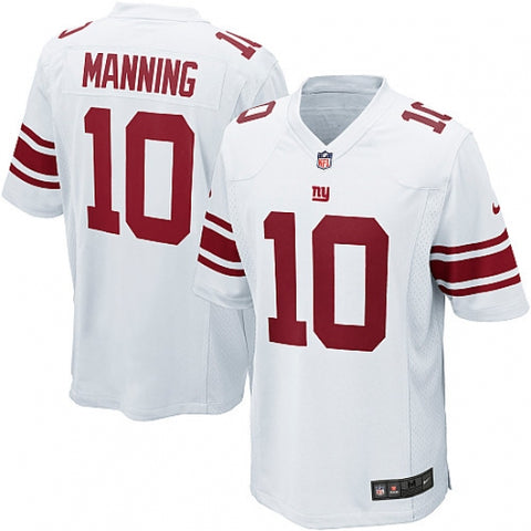 Nike Men's New York Giants Eli Manning Game Jersey White