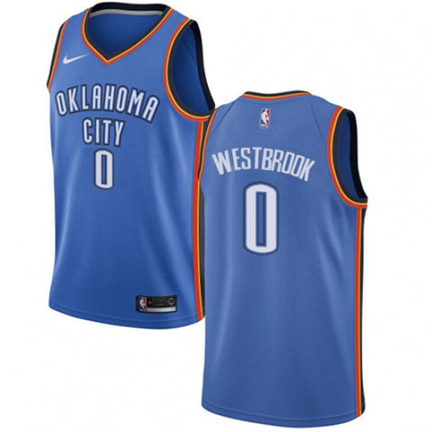 Nike Men's Oklahoma City Thunder Russell Westbrook Jersey Icon Edition Blue - Fan Gear Nation